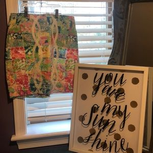 🍑Lilly Pulitzer State of Mind Skirt🍑